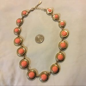 Orange and gold colored necklace